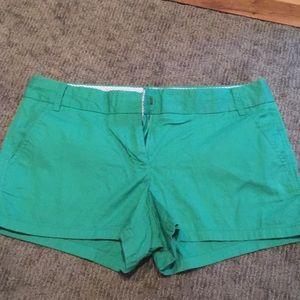 Green size 10 womens J Crew shorts